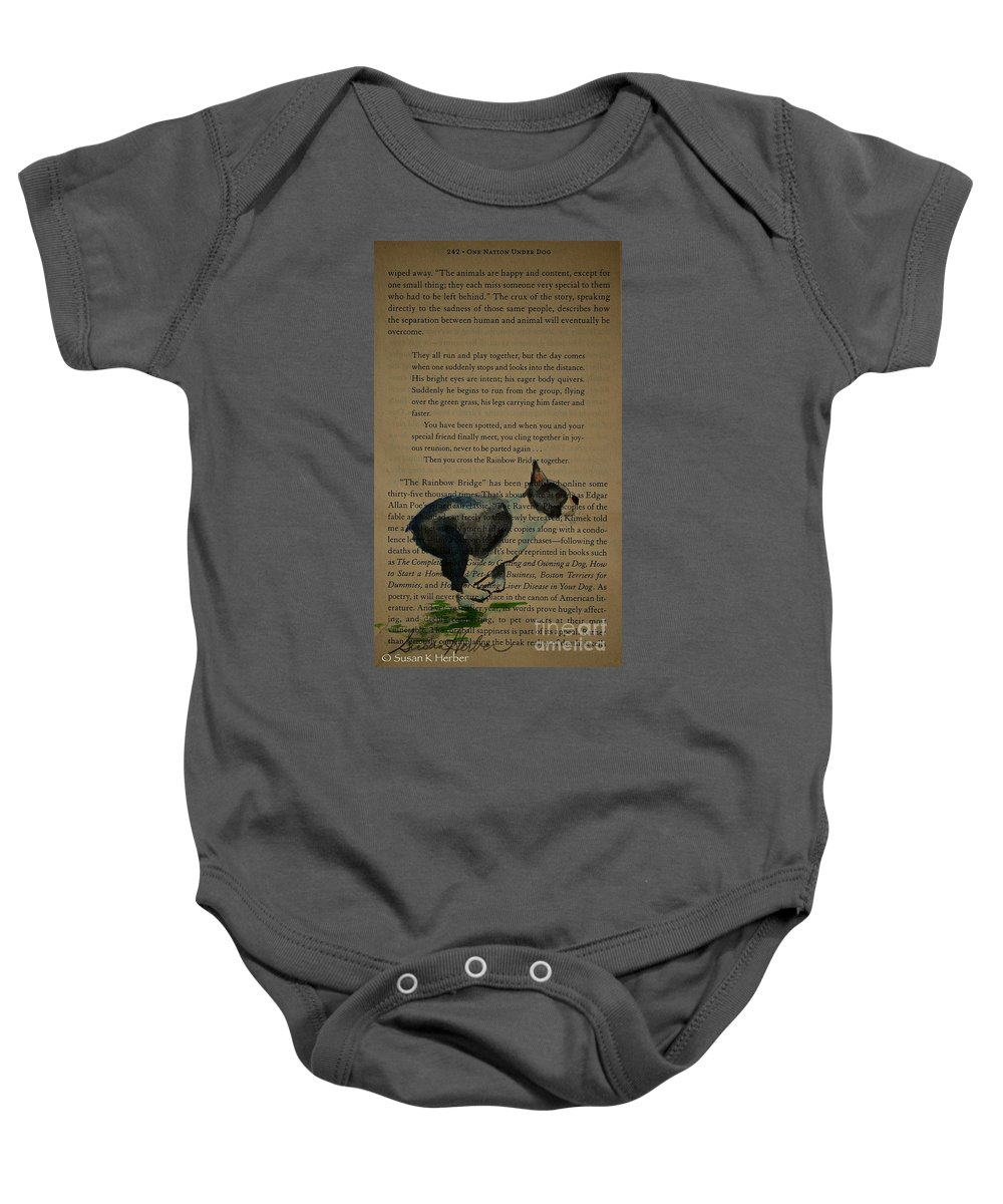 Animal Baby Onesie featuring the painting Dog Prayer by Susan Herber