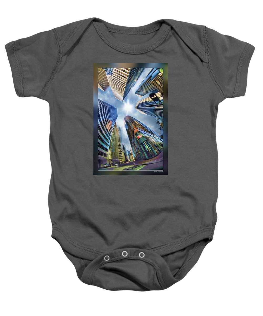 Art Photography Baby Onesie featuring the photograph Downtown Sunstream by Blake Richards