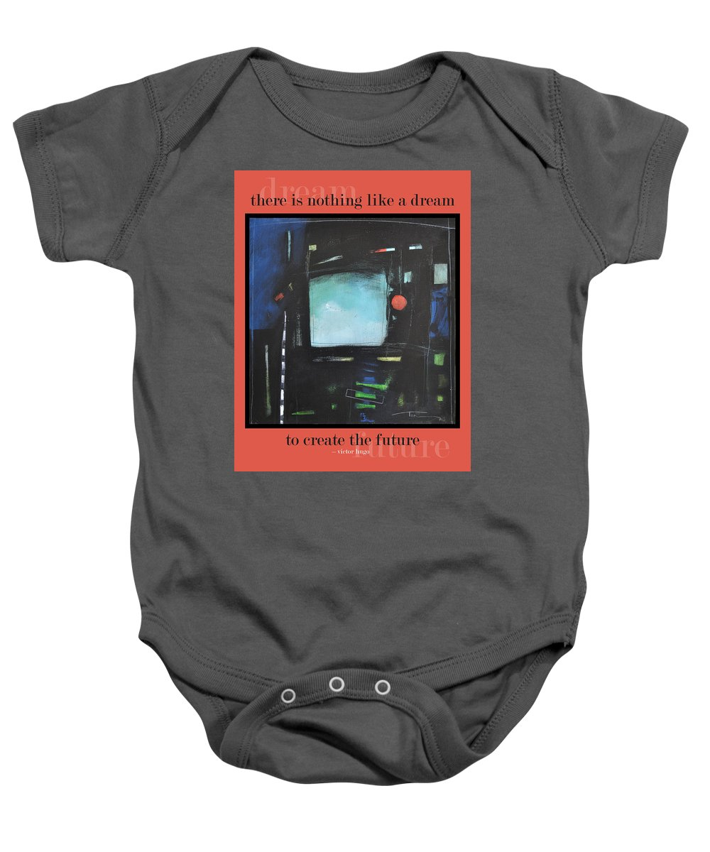 Dream Baby Onesie featuring the painting Dream Future Poster by Tim Nyberg