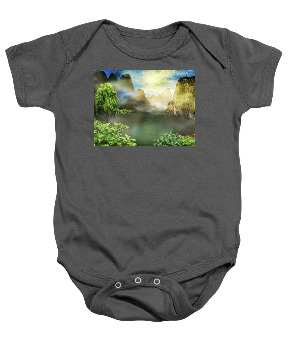 Landscape Baby Onesie featuring the photograph Dreamy Mood by Lourry Legarde