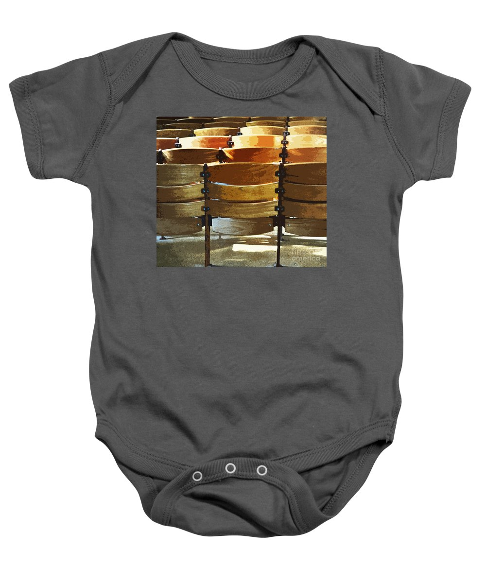 Chair Baby Onesie featuring the photograph Dress Rehearsal by Gwyn Newcombe