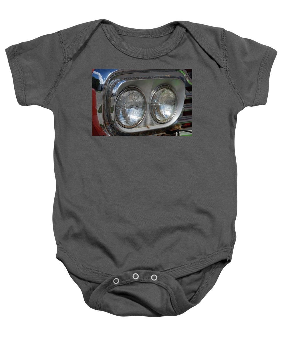 Head Lights Baby Onesie featuring the photograph Duel Lights by Rob Hans