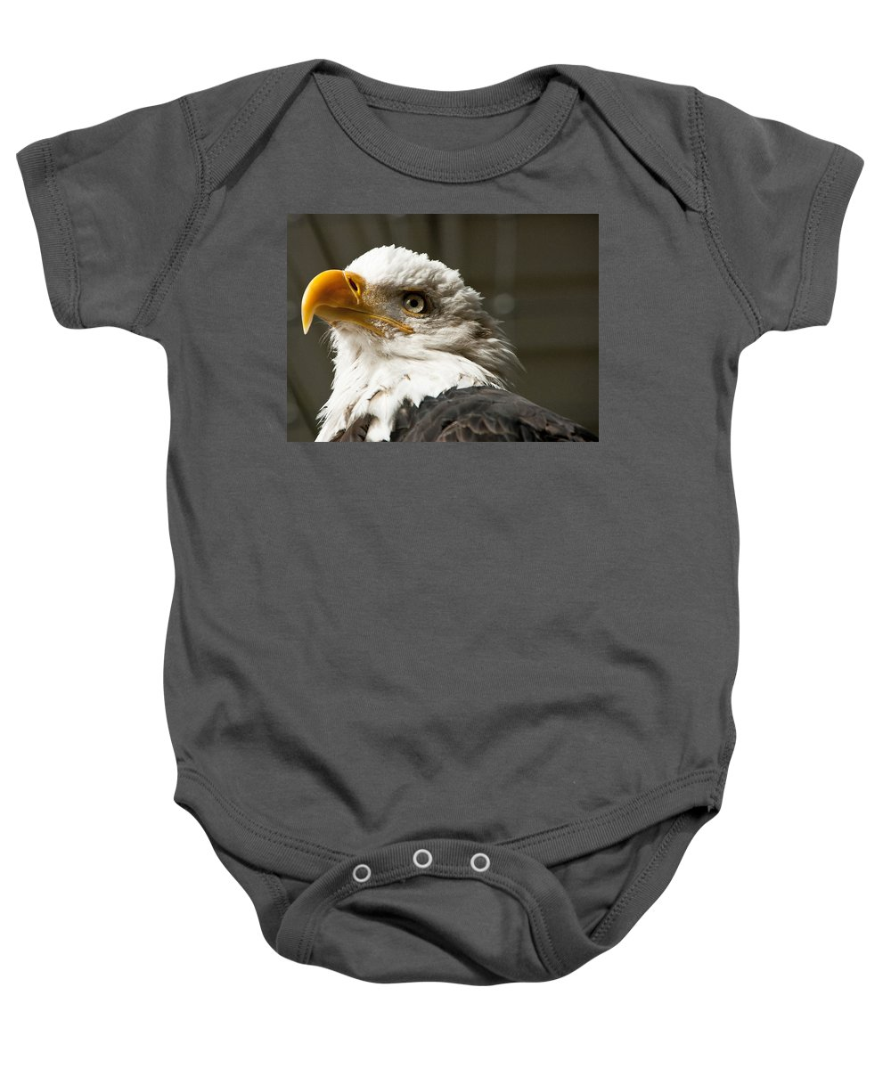 Eagle Baby Onesie featuring the photograph Eagle Eye by Jon Berghoff