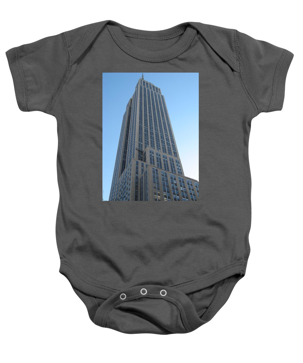 New York Baby Onesie featuring the photograph Empire State Building by Richard Bryce and Family
