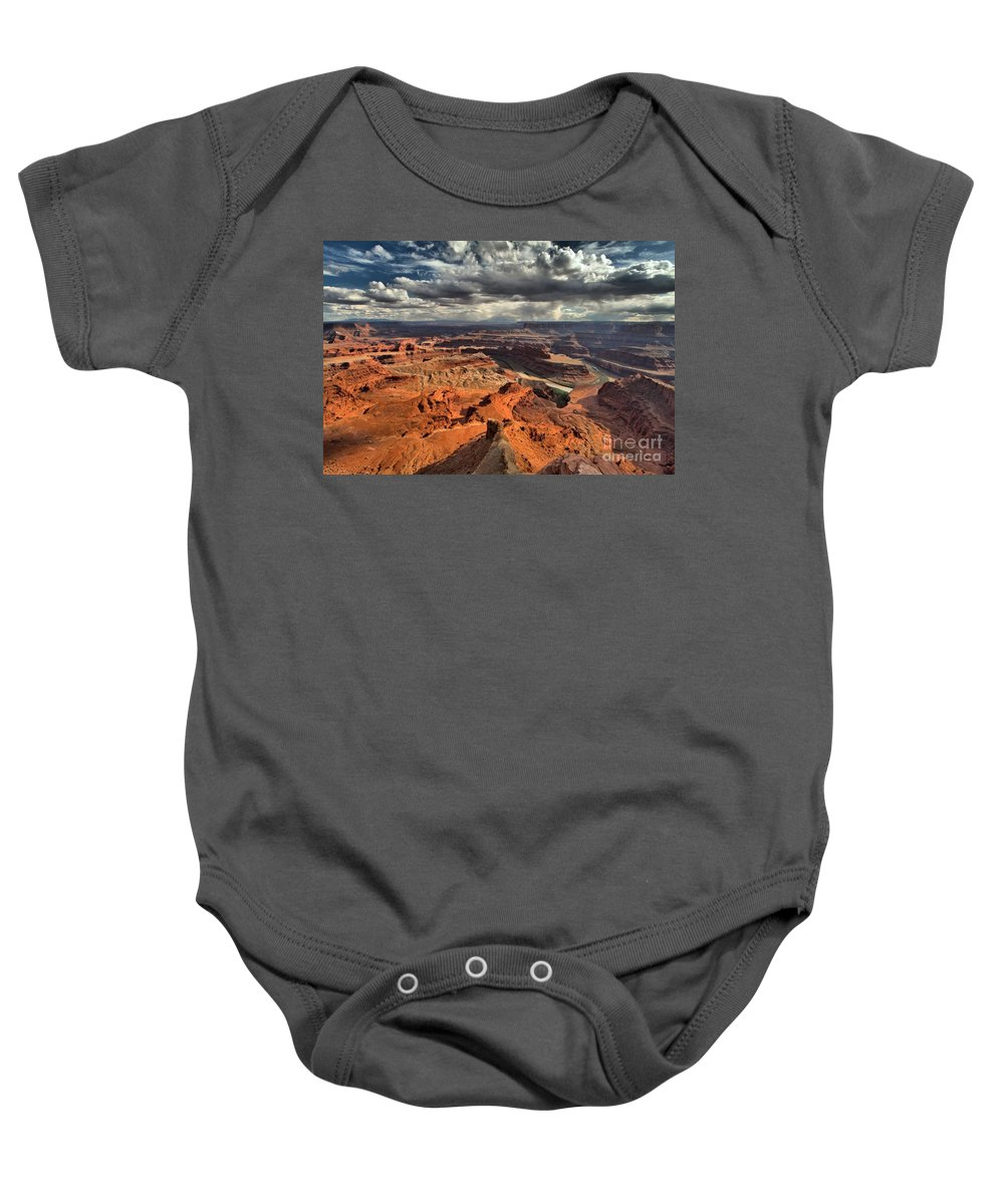 Dead Horse Point Baby Onesie featuring the photograph Endless Utah Canyons by Adam Jewell