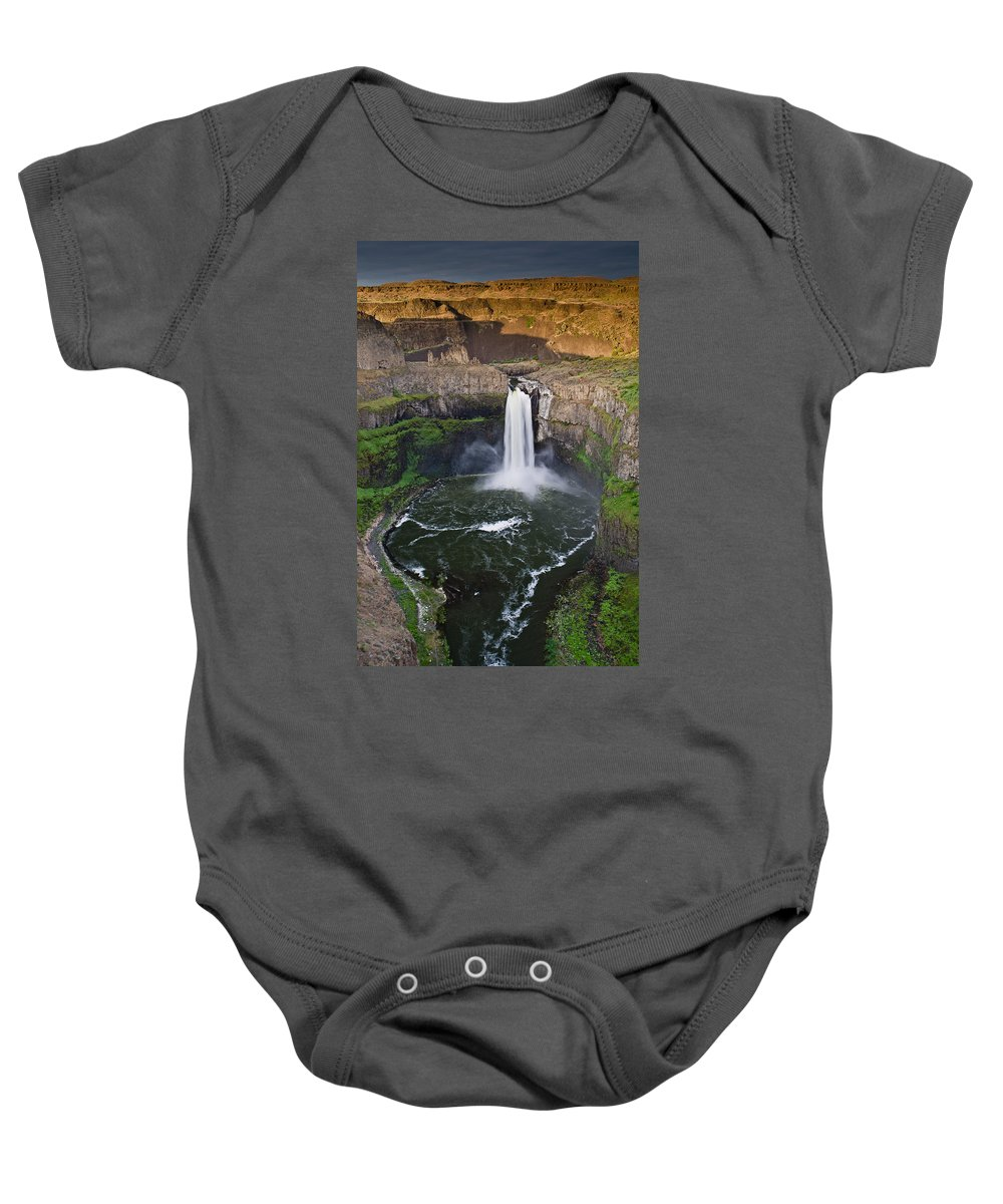 Palouse Falls Baby Onesie featuring the photograph Evening At Palouse Falls by Greg Nyquist
