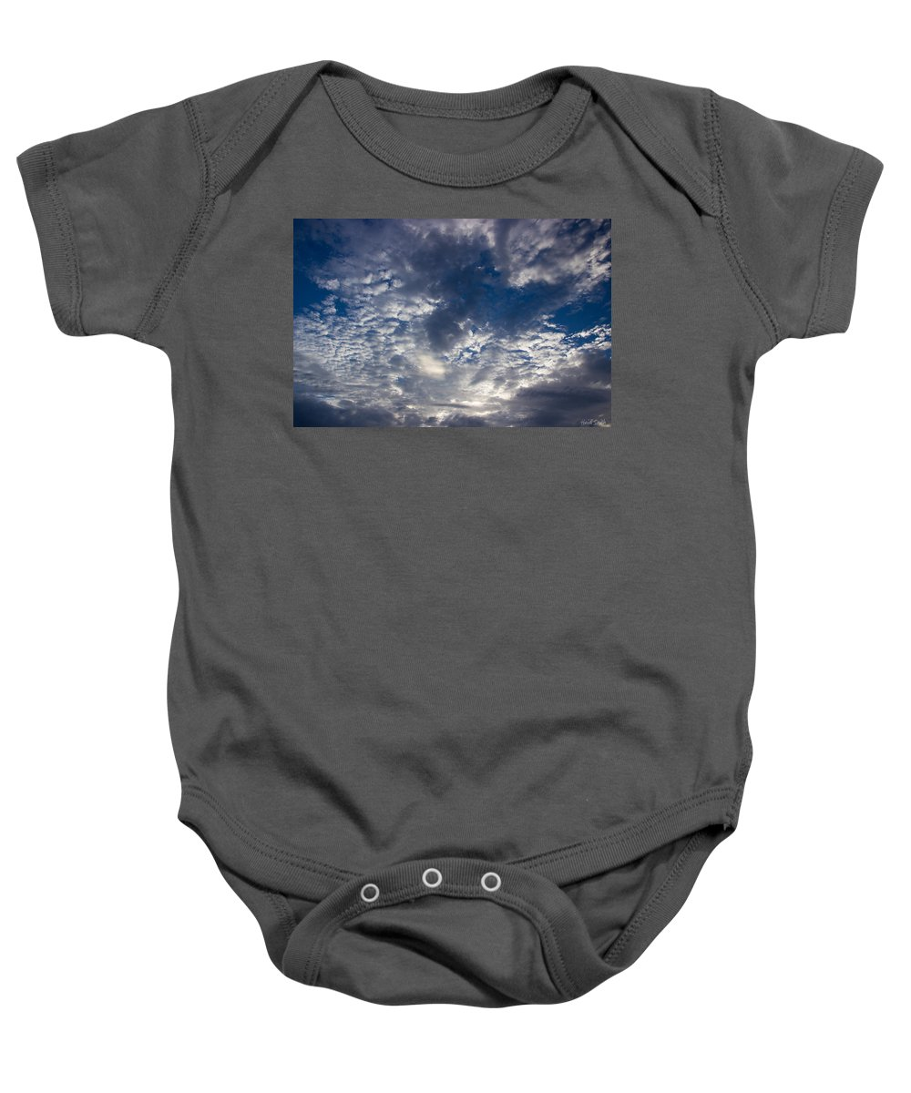 Clouds Baby Onesie featuring the photograph Fabio Shows Himself by Heidi Smith