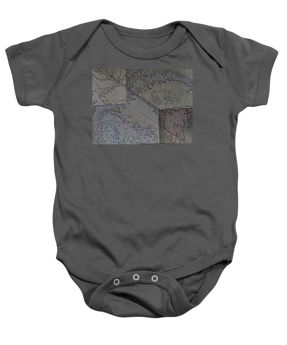 Abstract Baby Onesie featuring the photograph Facade 1 by Tim Allen
