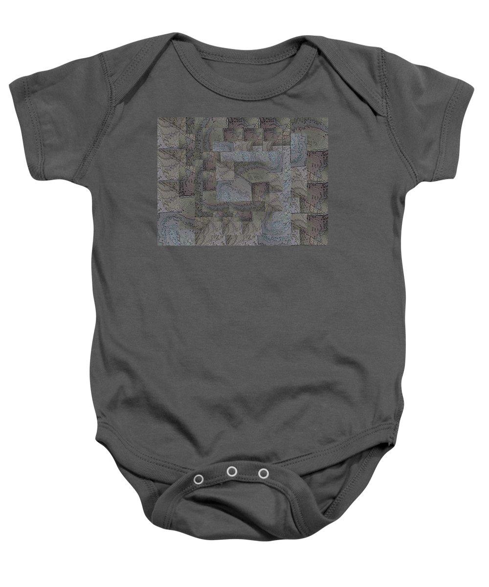 Abstract Baby Onesie featuring the digital art Facade 4 by Tim Allen