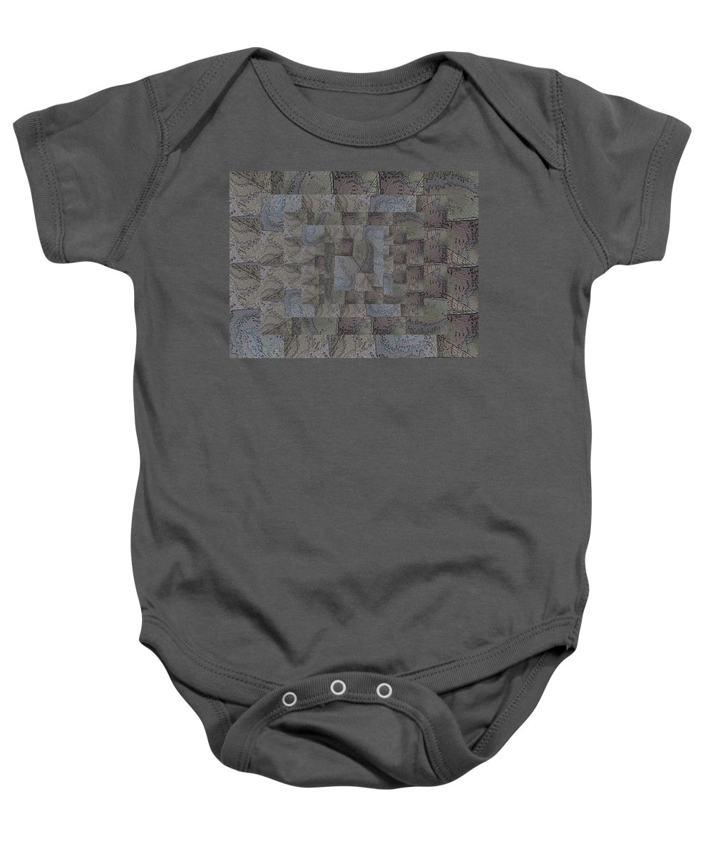 Abstract Baby Onesie featuring the digital art Facade 6 by Tim Allen