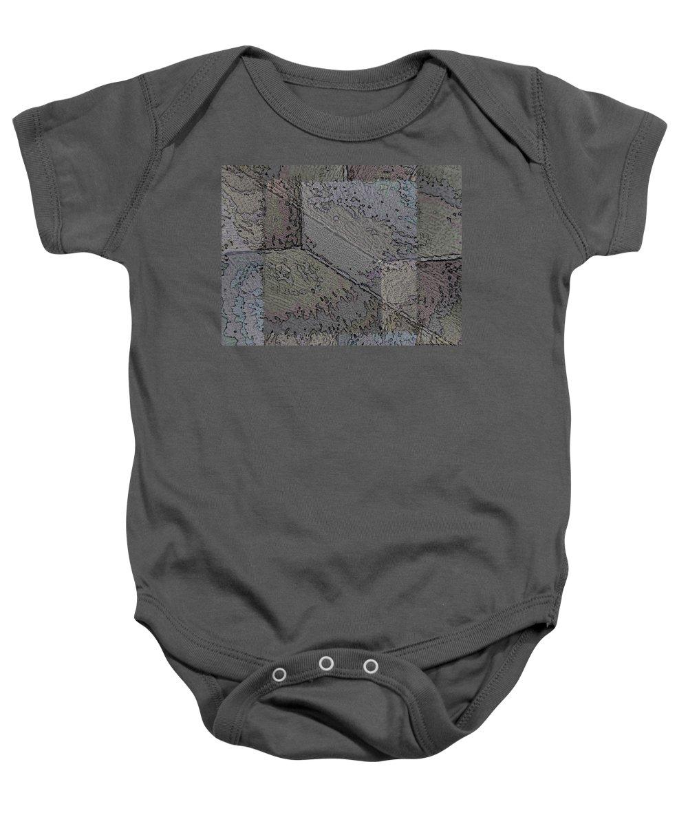 Abstract Baby Onesie featuring the digital art Facade 7 by Tim Allen