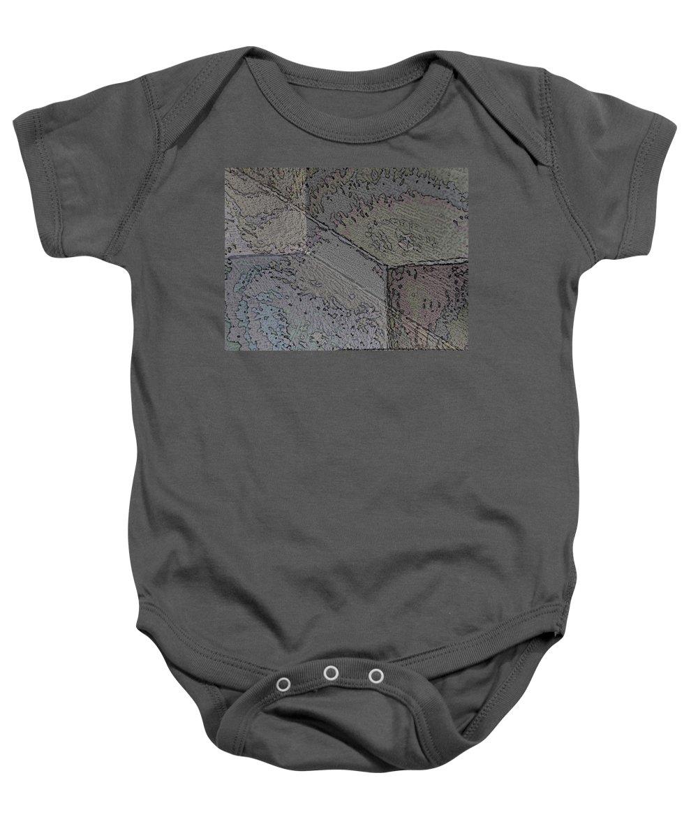 Abstract Baby Onesie featuring the digital art Facade 8 by Tim Allen
