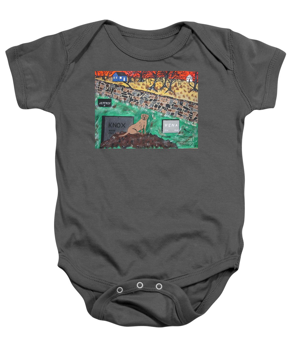 Lab Baby Onesie featuring the painting Faithful Friend by Jeffrey Koss