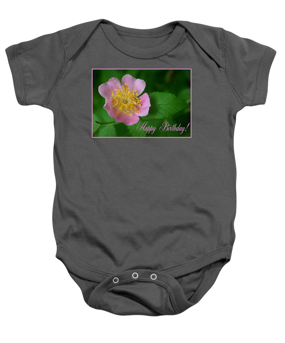 Happy Birthday Baby Onesie featuring the photograph February Birthday by Kristin Elmquist