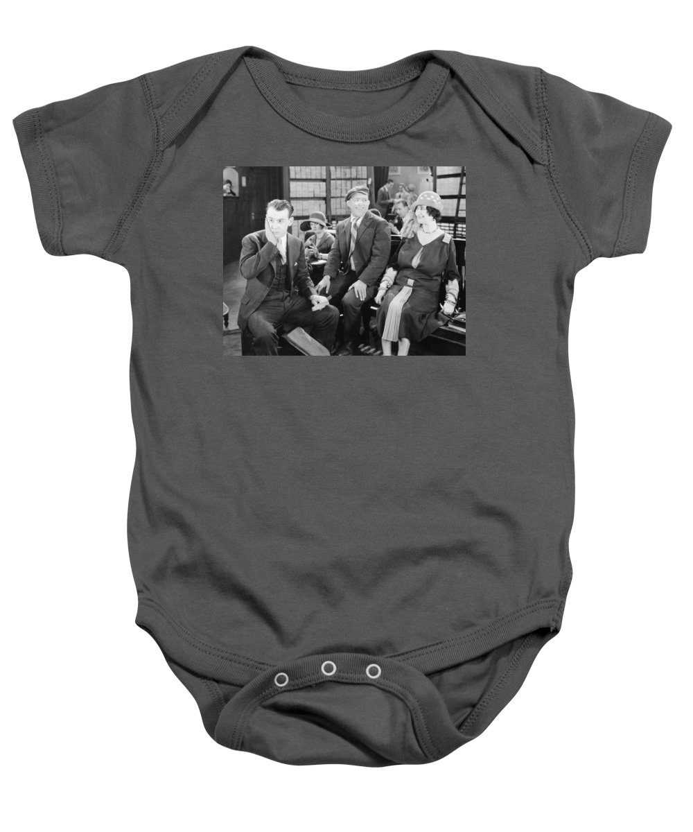 -ecq- Baby Onesie featuring the photograph Film: All Aboard, 1927 by Granger