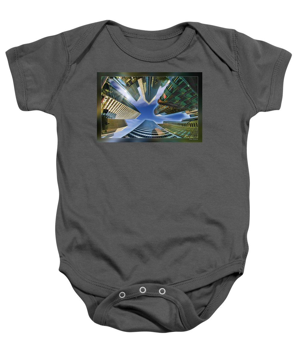 Art Photography Baby Onesie featuring the photograph Financial Skyline by Blake Richards