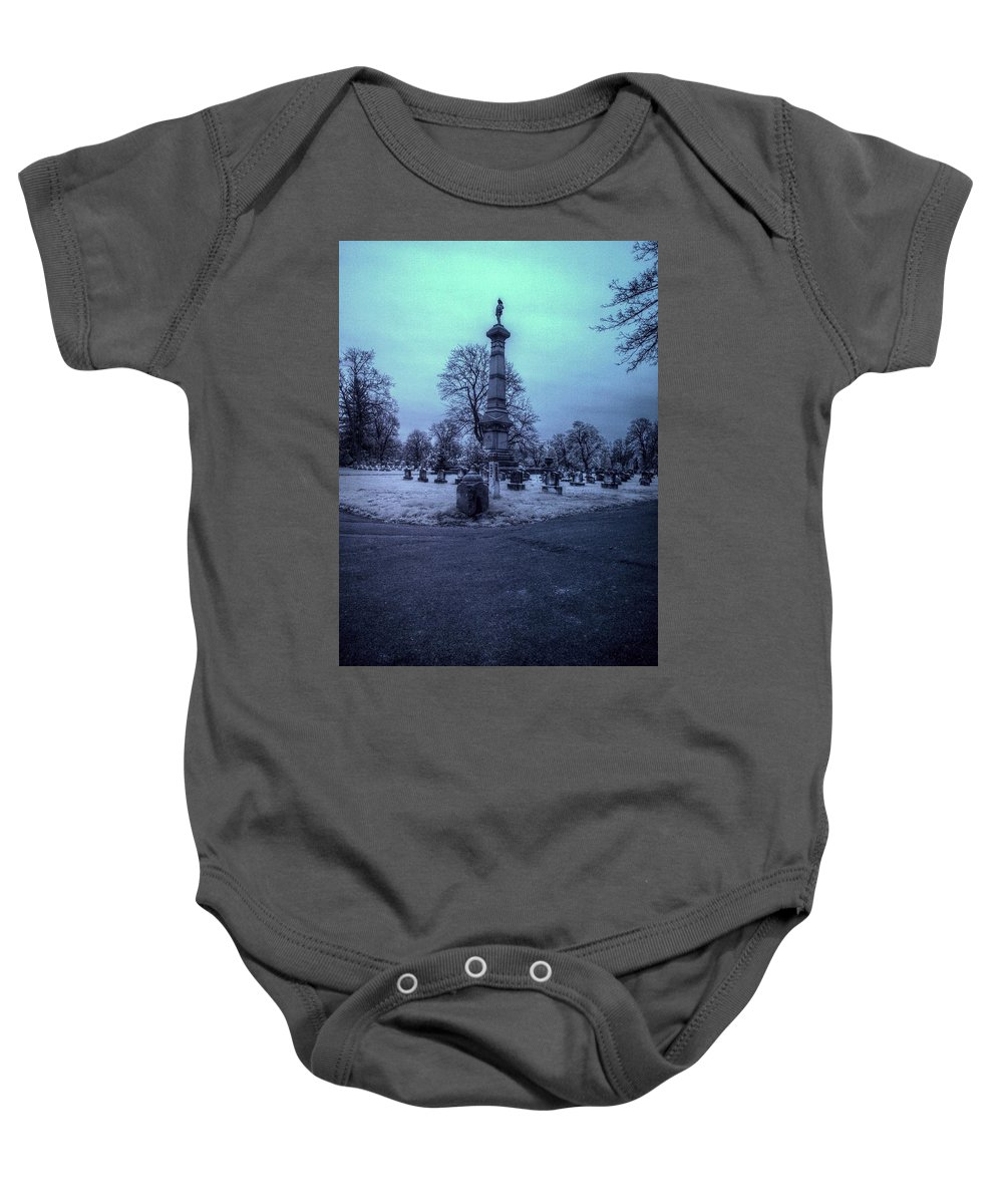 Fireman Baby Onesie featuring the photograph Firemans Monument Infrared by Joshua House