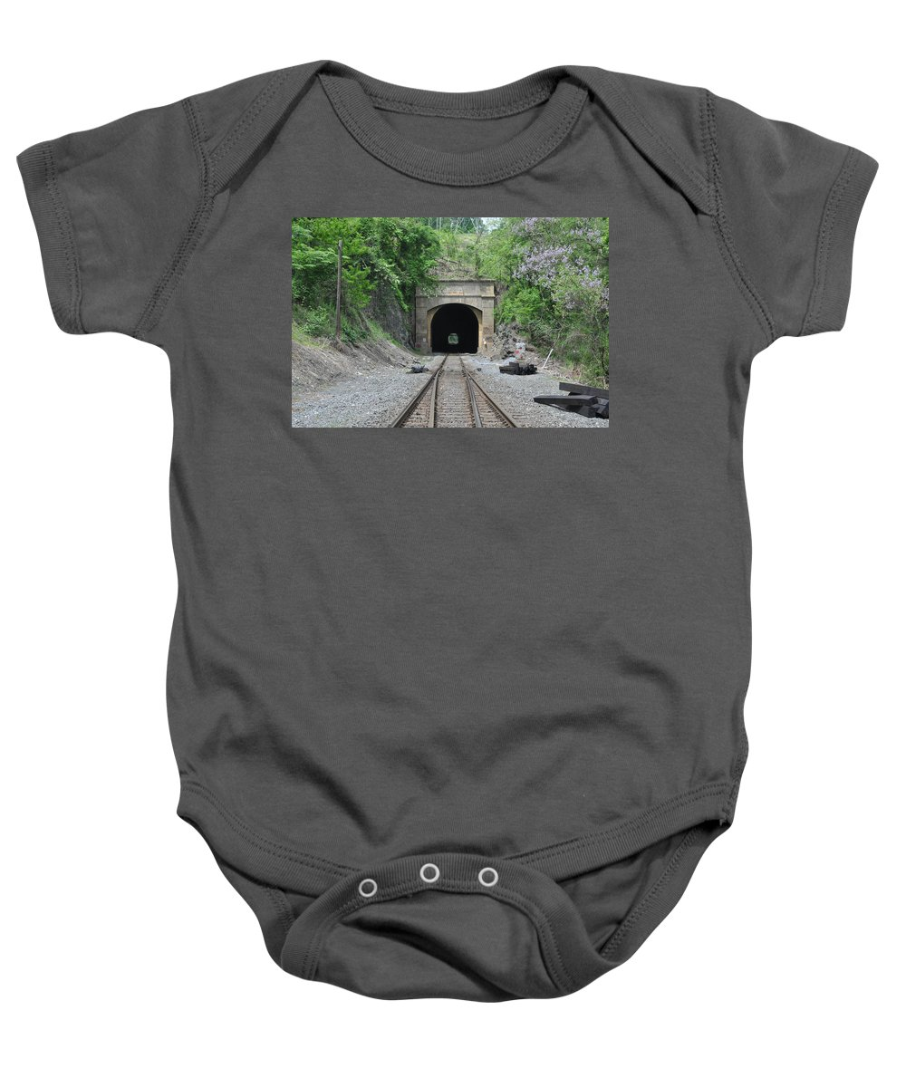 Flatrock Tunnel Baby Onesie featuring the photograph Flatrock Tunnel by Bill Cannon