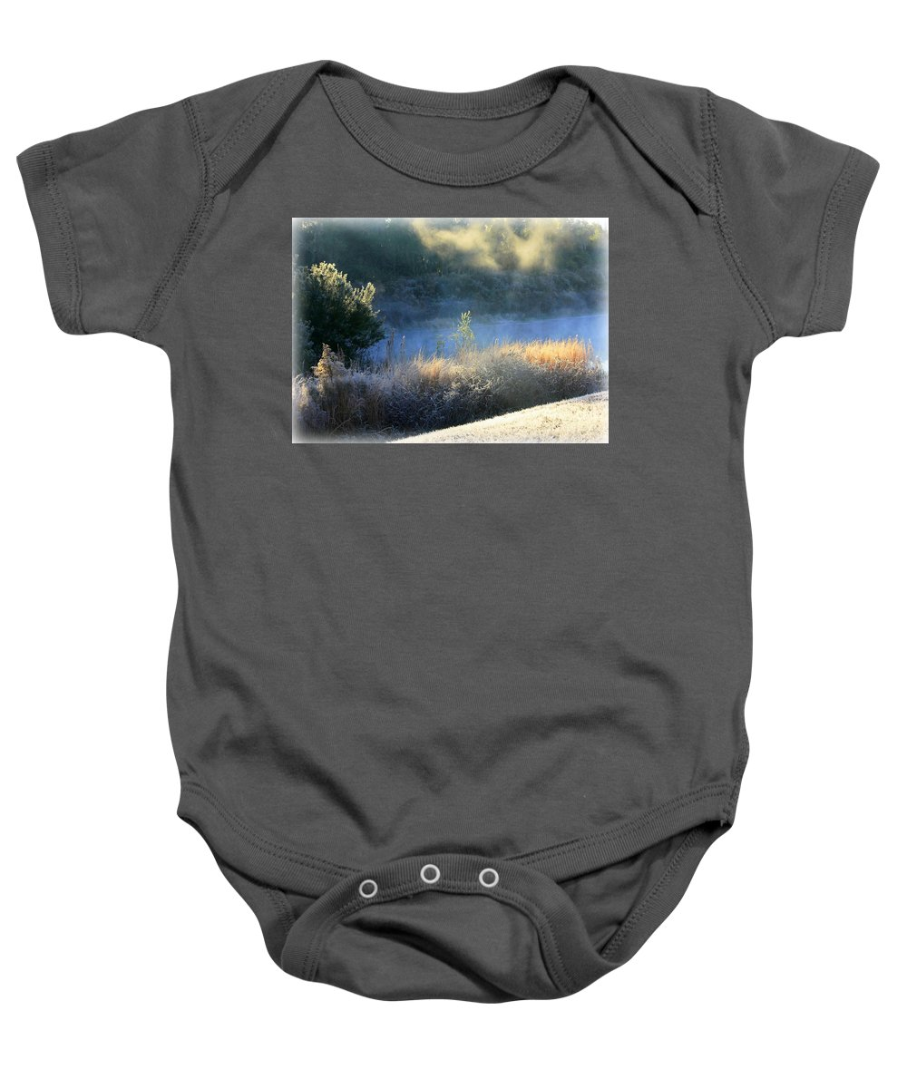 Florida Frost Baby Onesie featuring the photograph Florida Frosty Morning by Carol Groenen