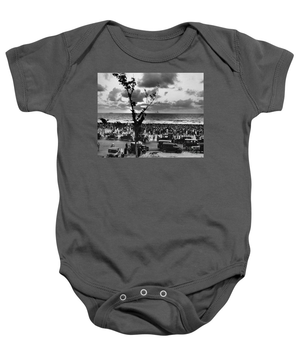 1927 Baby Onesie featuring the photograph Florida: Miami Beach, 1927 by Granger