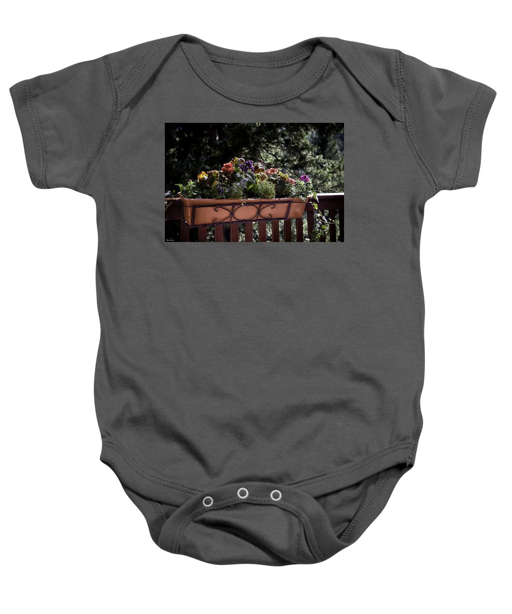 Flowers Baby Onesie featuring the photograph Flower Box by Madeline Ellis