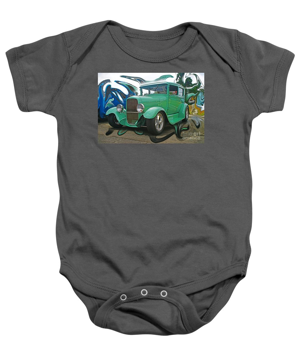 Cars Baby Onesie featuring the photograph Ford Abstract by Randy Harris