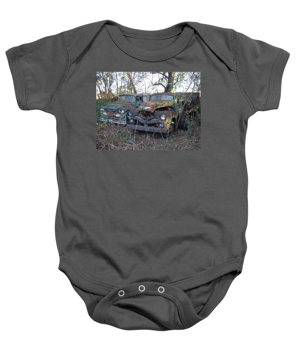 Truck Baby Onesie featuring the photograph Forever Parked by Bonfire Photography