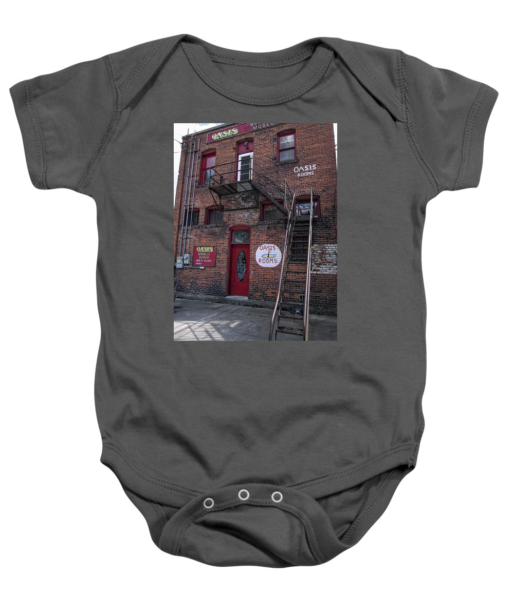 Bordello Baby Onesie featuring the photograph Former Oasis Bordello In Wallace Idaho Mining Town by Daniel Hagerman
