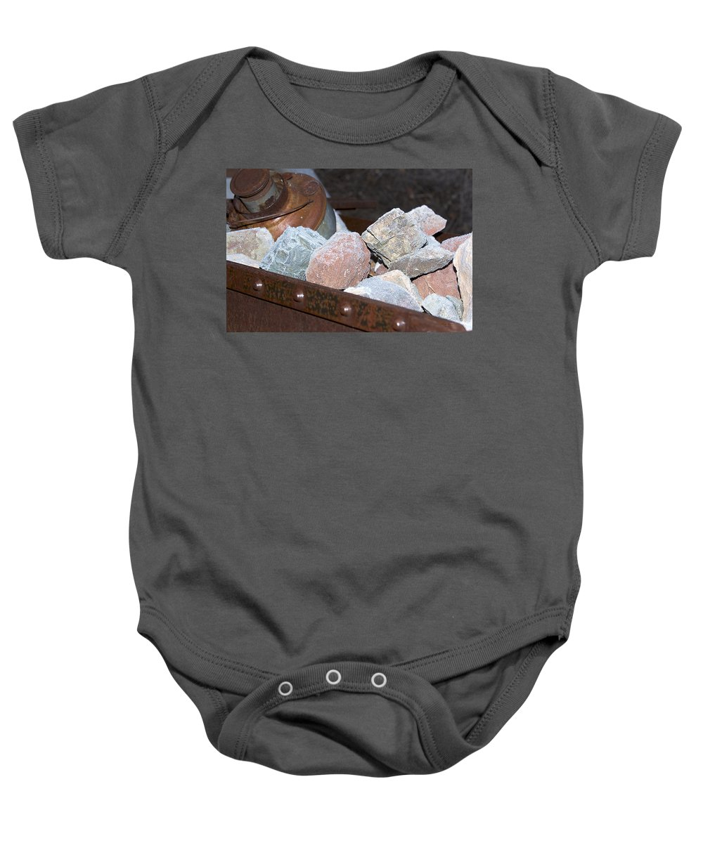 Rocks Baby Onesie featuring the photograph Frosty Rocks by Phyllis Denton