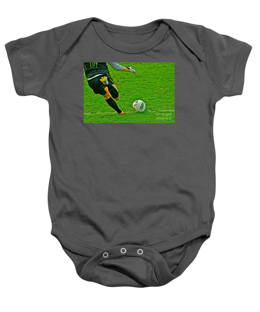 Game Ball Baby Onesie featuring the photograph Game Ball by Laddie Halupa