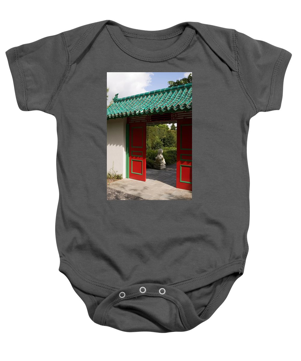 Walled Garden Baby Onesie featuring the photograph Garden Entrance by Sally Weigand