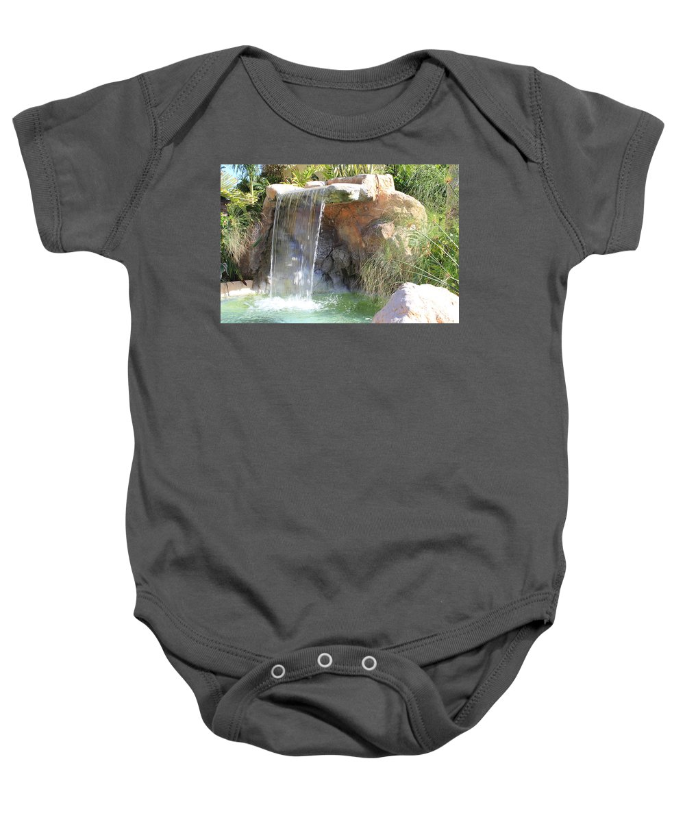 Waterfall Baby Onesie featuring the photograph Garden Waterfall by Shane Bechler