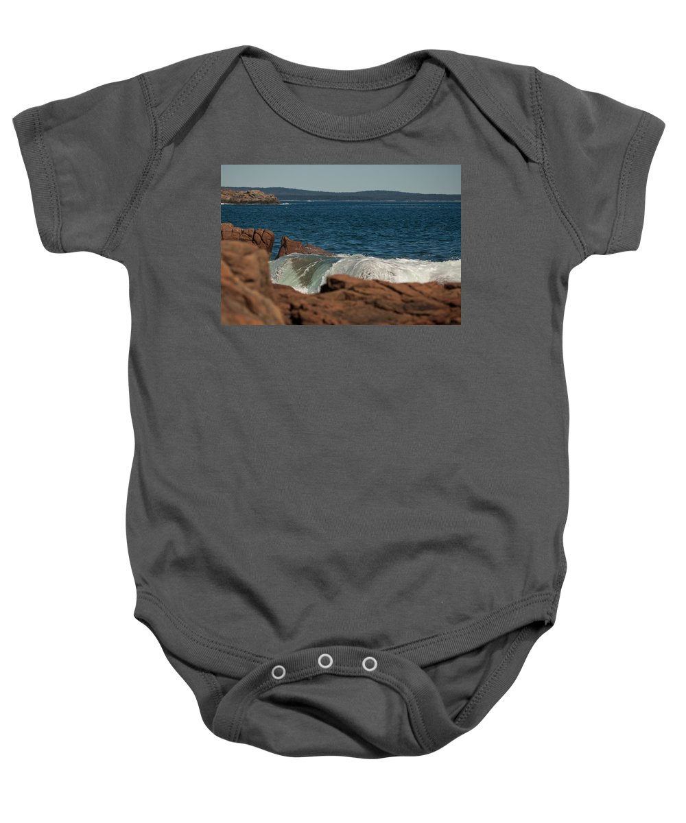 bar Harbor Baby Onesie featuring the photograph Gently Rolling Tide by Paul Mangold