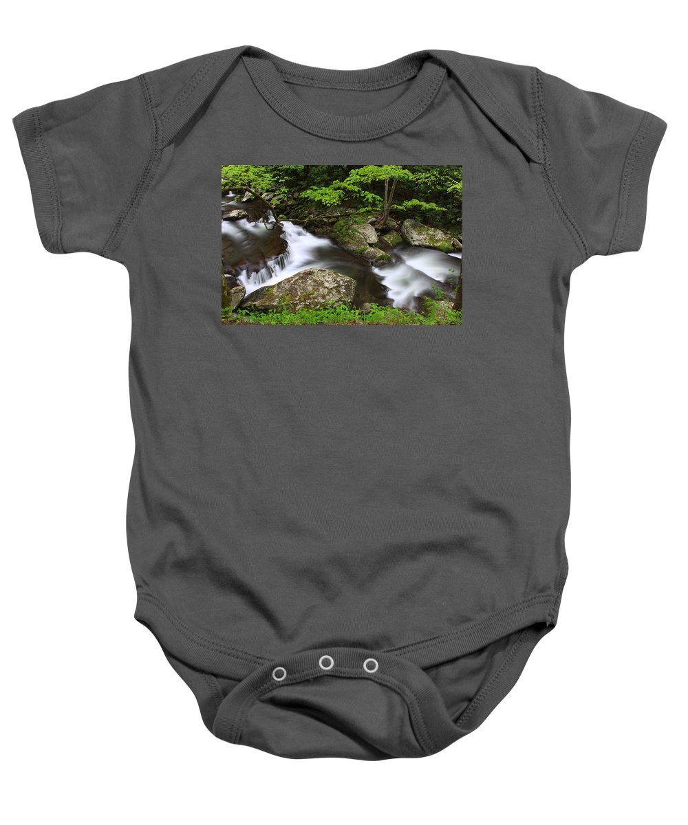 Water Baby Onesie featuring the photograph Go With The Flow by Shari Jardina