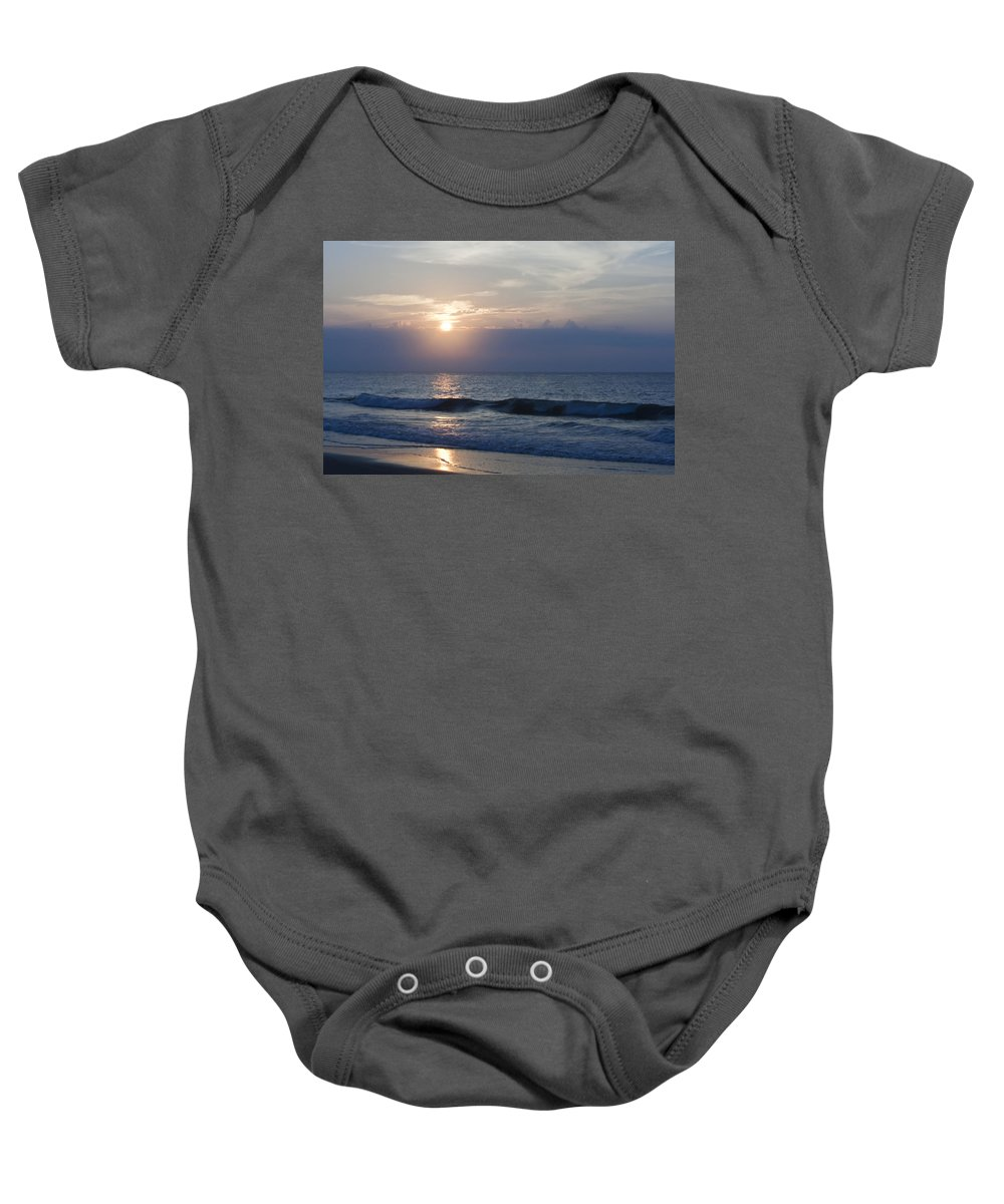 Sunrise Baby Onesie featuring the photograph Golden Rose Reflection 2 by Teresa Mucha