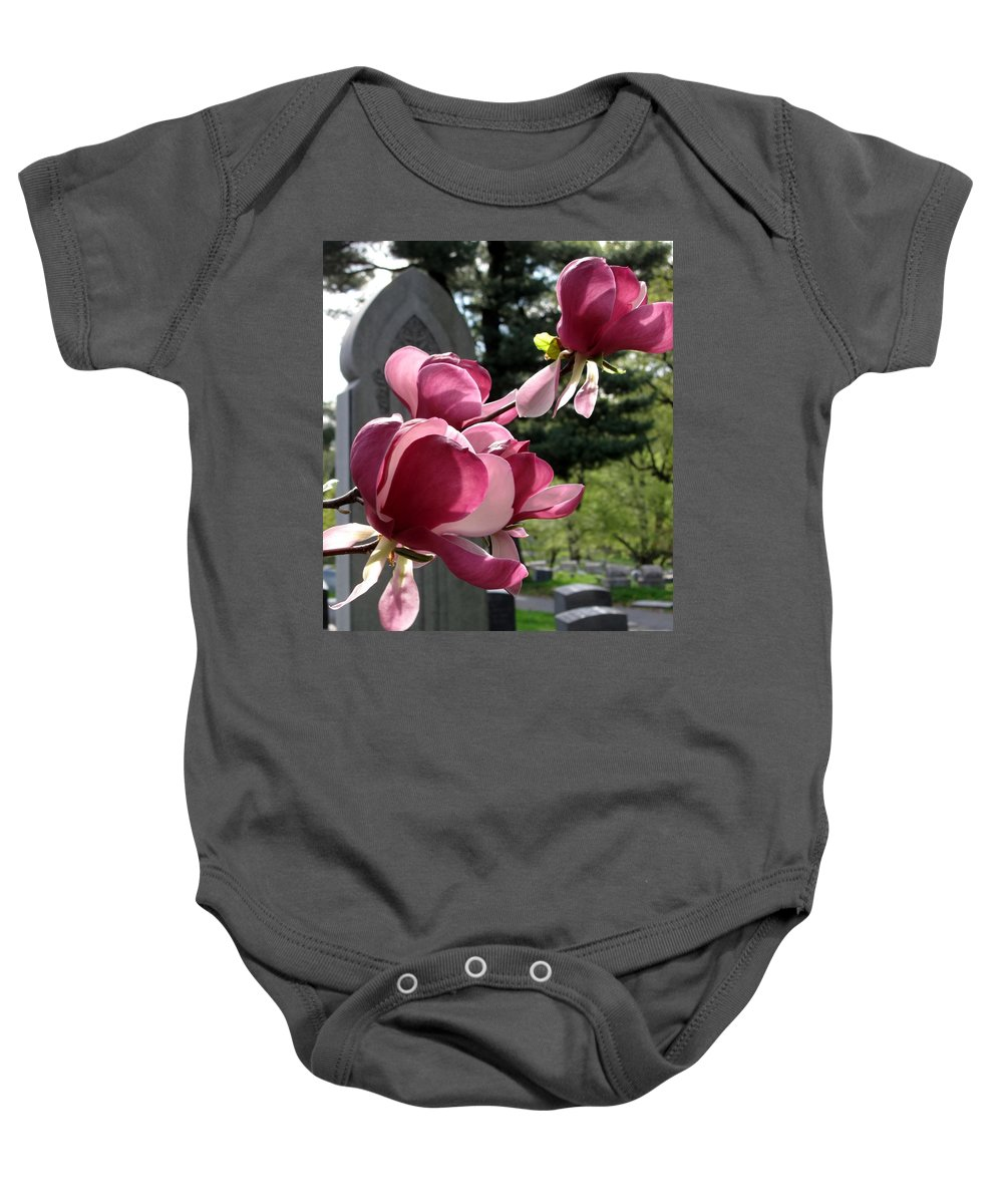 Graveyard Baby Onesie featuring the photograph Graceful Abundance by Michele Nelson