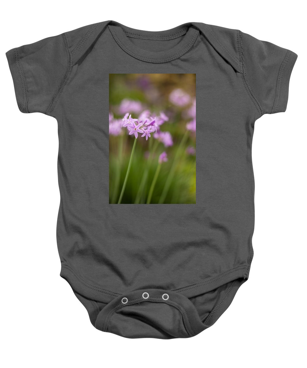 Flower Baby Onesie featuring the photograph Gracious Stalks by Mike Reid
