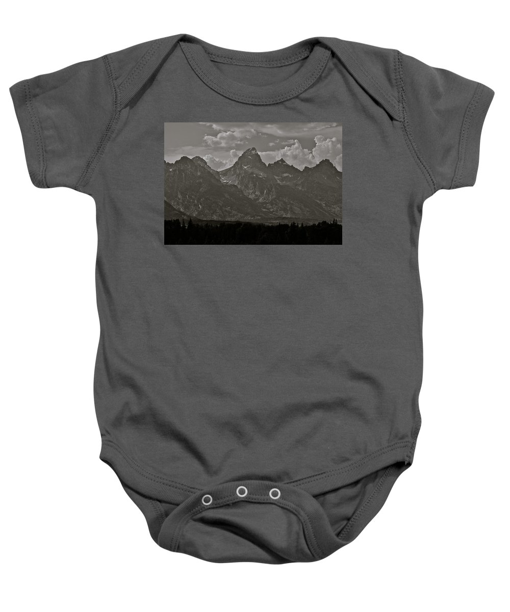 Mountains Baby Onesie featuring the photograph Grand Tetons by Eric Tressler