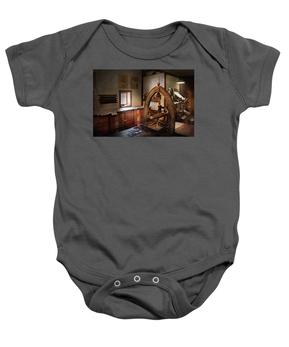 Hdr Baby Onesie featuring the photograph Graphic Artist - Graphic Workshop by Mike Savad