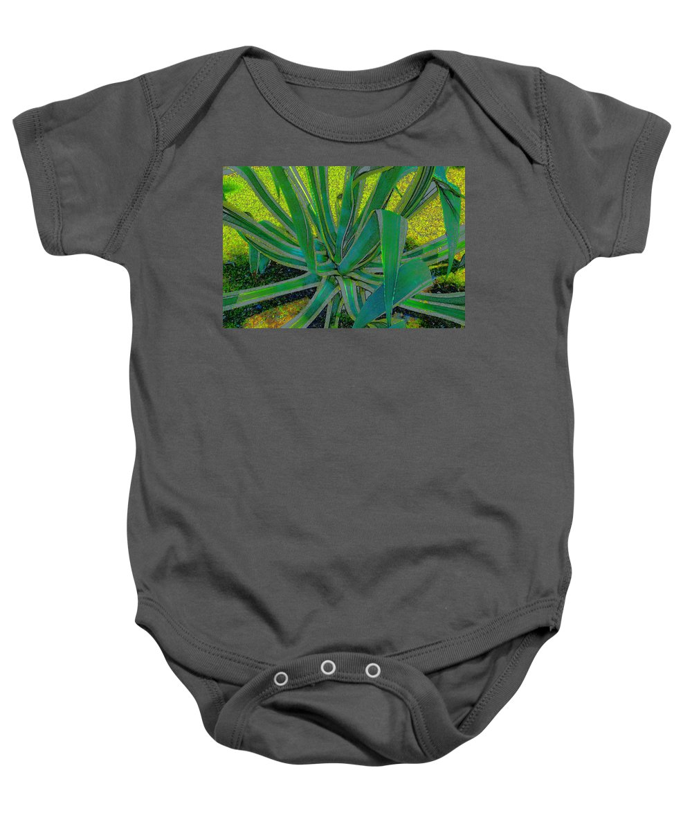 Art Baby Onesie featuring the painting Great Agave by David Lee Thompson