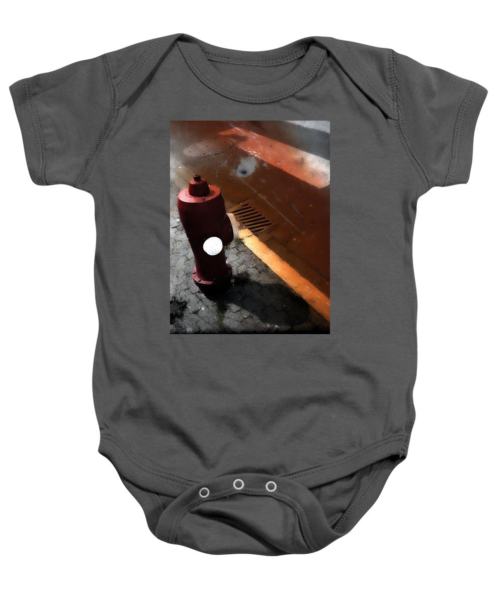 Street Photography Baby Onesie featuring the photograph Greet The Street by The Artist Project