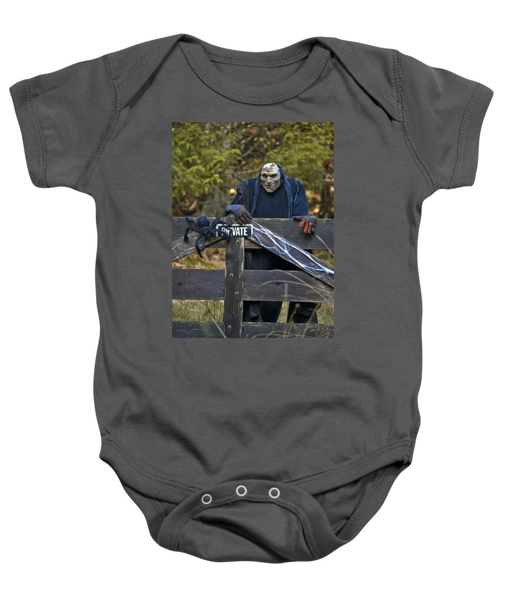 Halloween Baby Onesie featuring the photograph Halloween Goblin by Derek Holzapfel