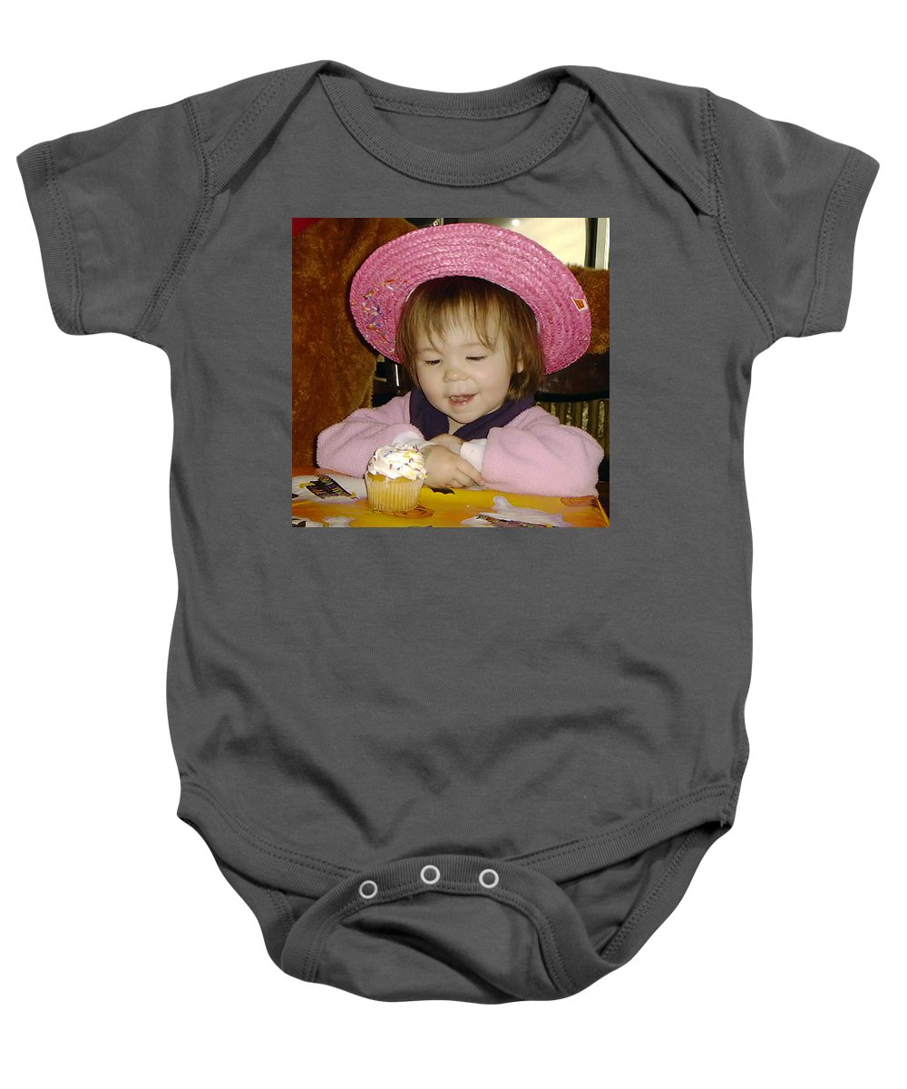 Temptation Baby Onesie featuring the photograph Hard To Resist by Paul Ward