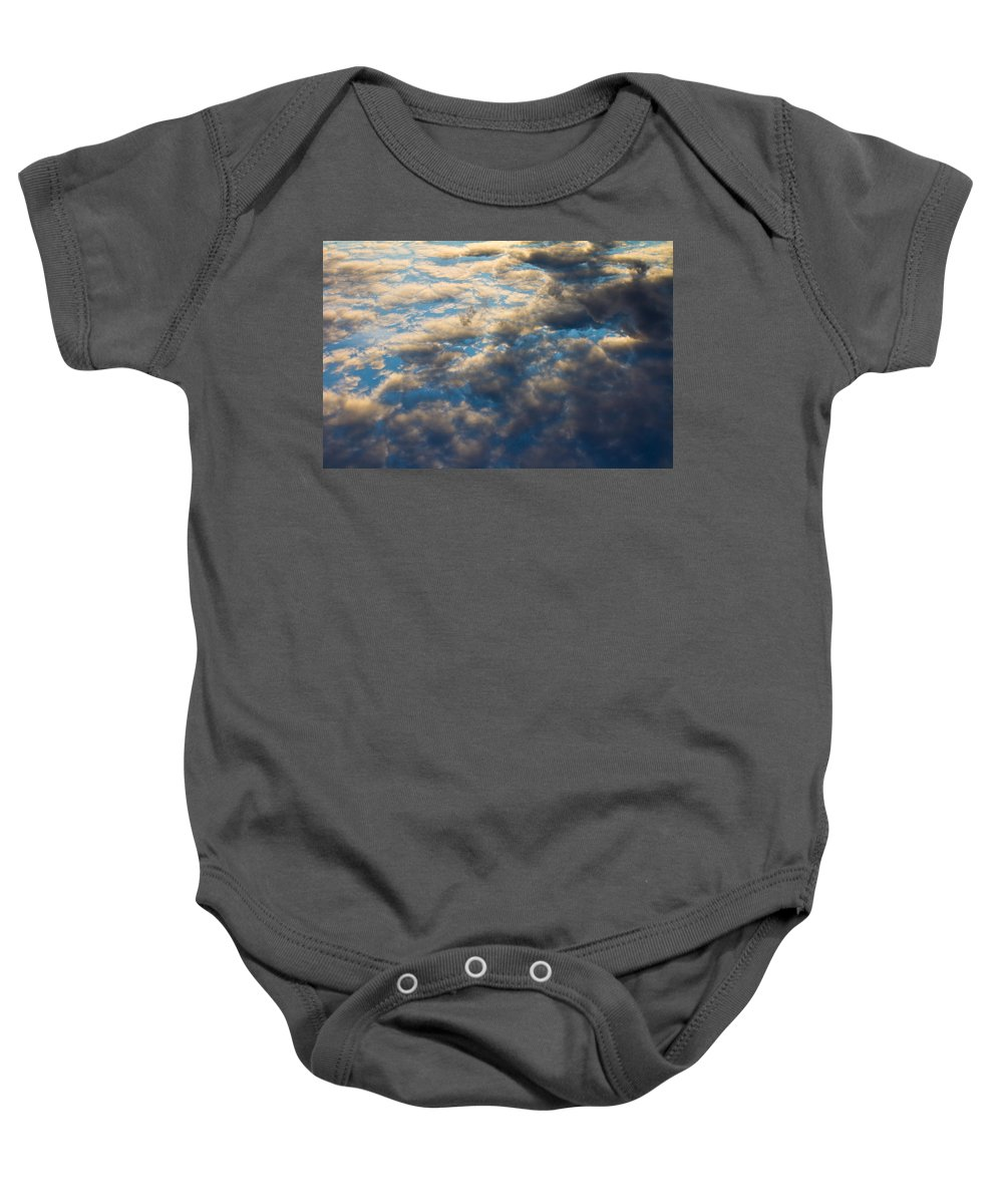 Clouds Baby Onesie featuring the photograph Heavenly Clouds by David Pyatt