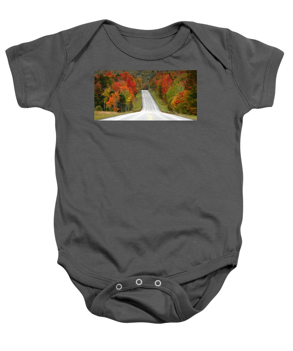 Road Baby Onesie featuring the photograph Heavens Highway by David Lee Thompson