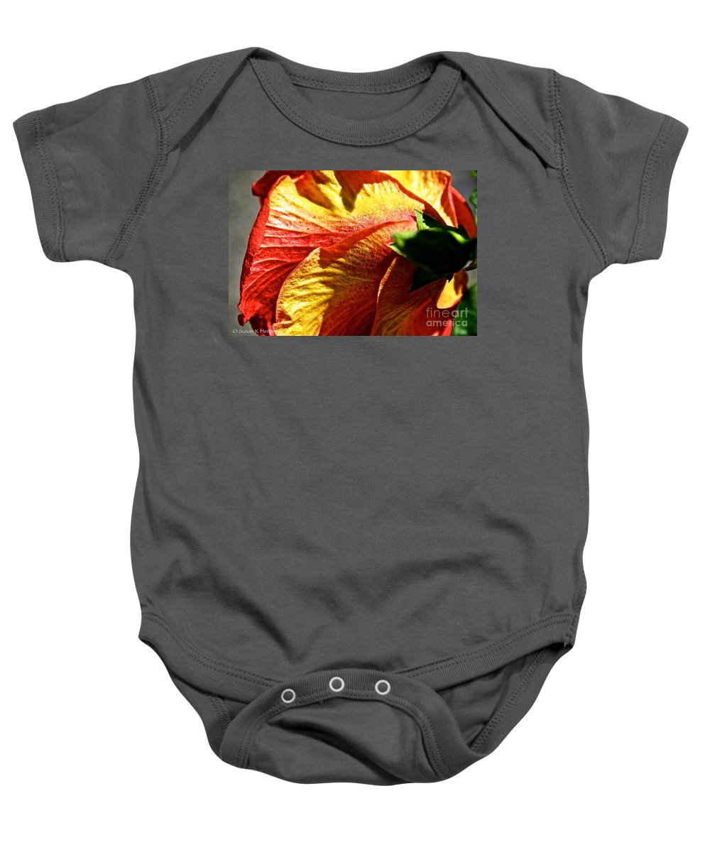 Plant Baby Onesie featuring the photograph Hibiscus Fashion by Susan Herber