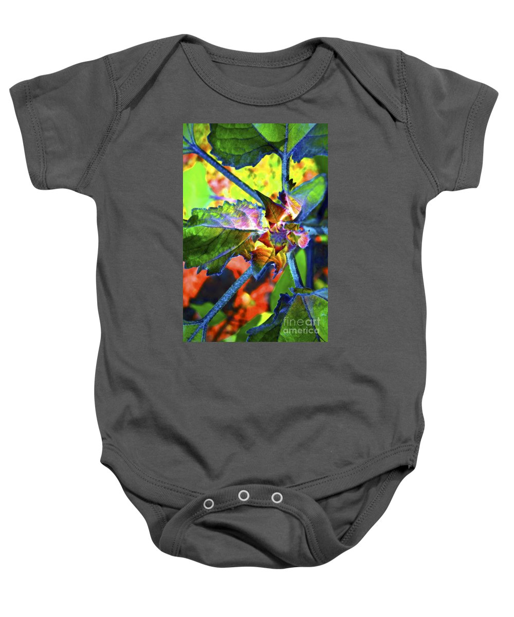 Sunflower Baby Onesie featuring the photograph Hidden In Color by Gwyn Newcombe
