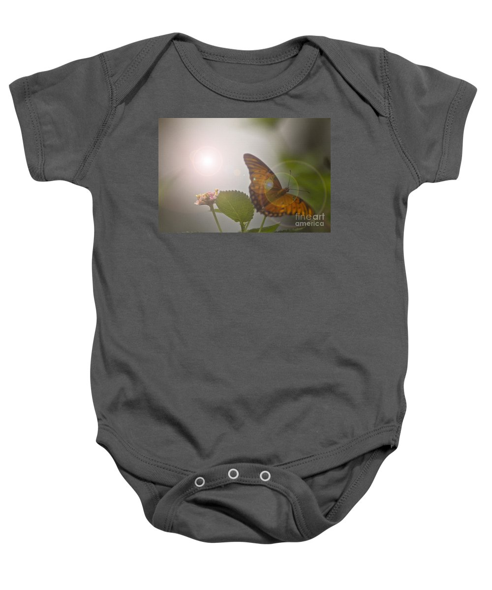 Butterfly Baby Onesie featuring the mixed media Homecoming by Kim Henderson