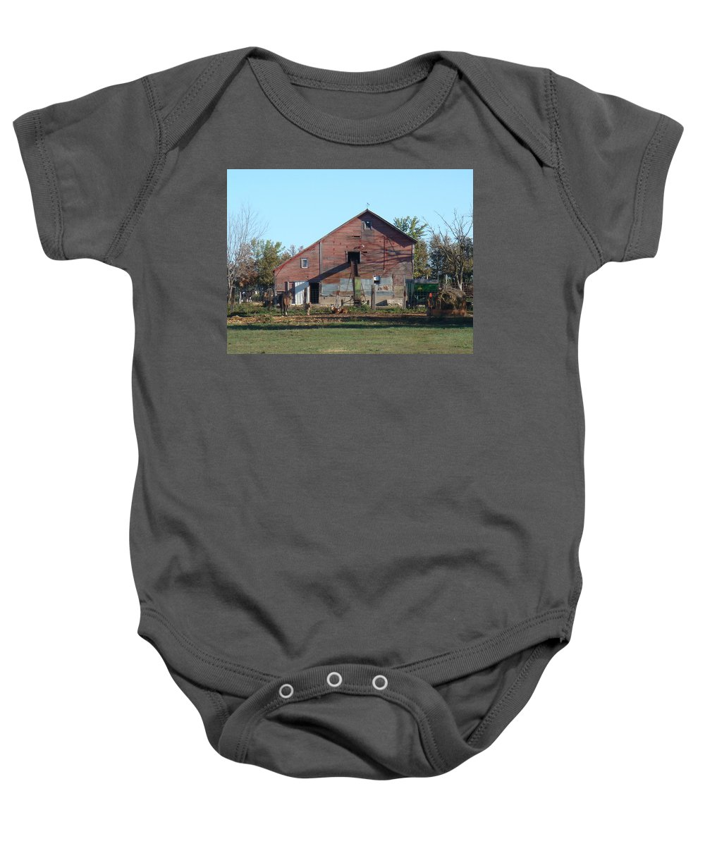 Horse Baby Onesie featuring the photograph Horse Barn by Bonfire Photography