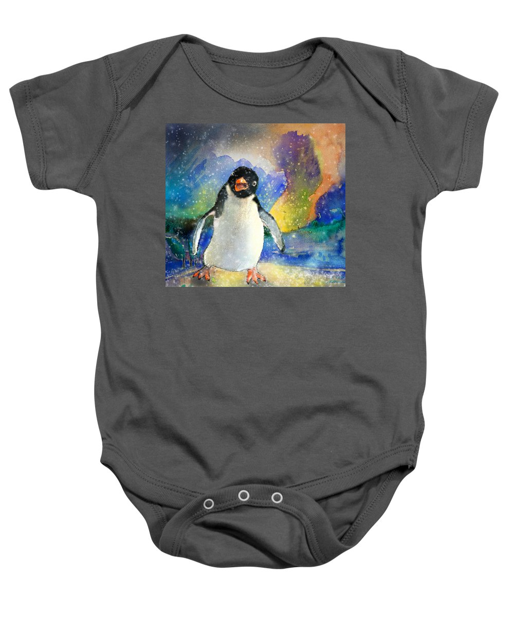 Animals Baby Onesie featuring the painting I Only Want A Warm Hug by Miki De Goodaboom